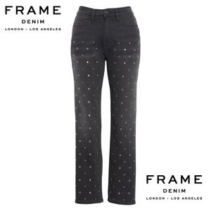 FRAME DENIM Le High Stud Ankle Straight Leg Jeans
